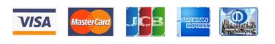 VISA・MasterCard・JCB・AMERICANEXPRESS・Dinersカード