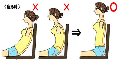 横から女性の座位