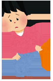 腰痛女性のイラスト